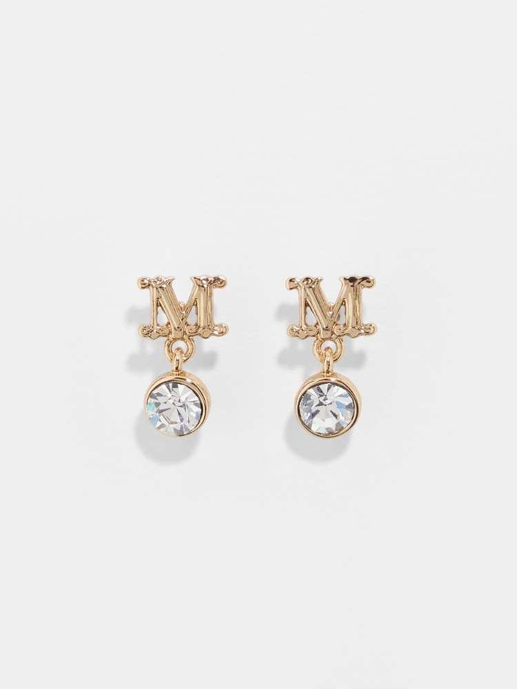 Earring with rhinestones
