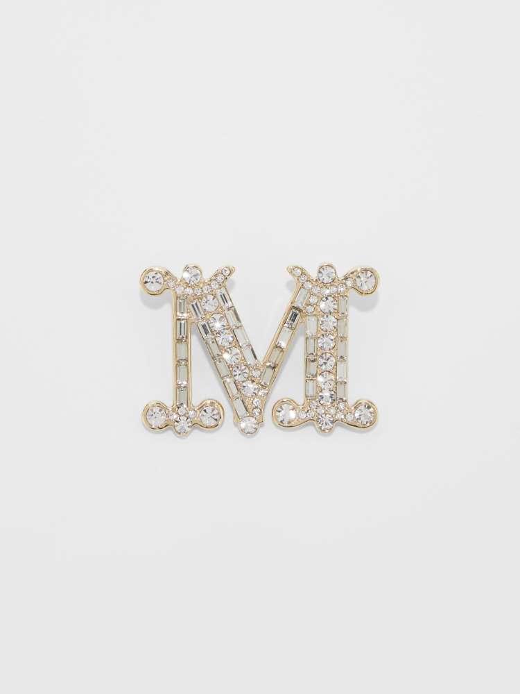 Broche monogramme avec cristaux