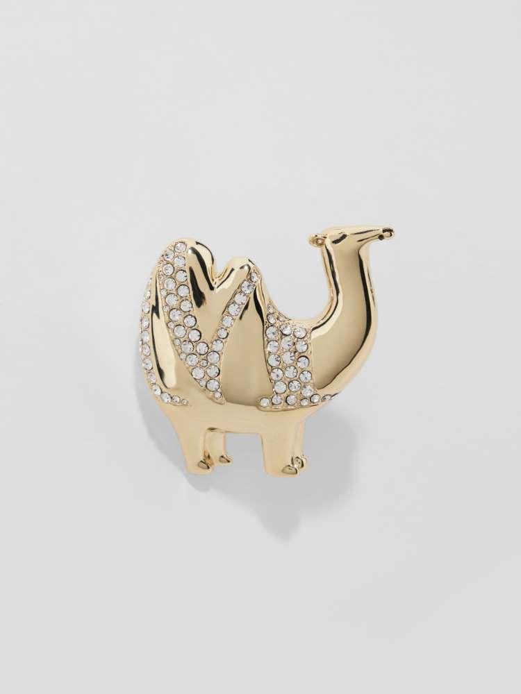 Camel brooch with crystals