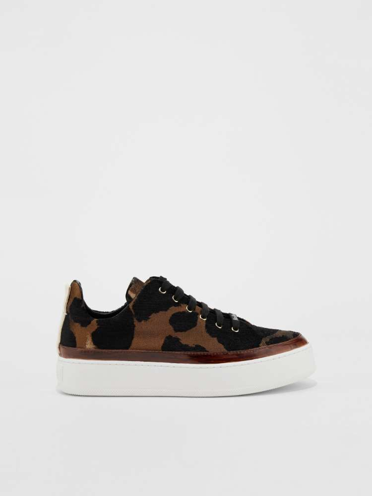 Trainers in animal-print fabric