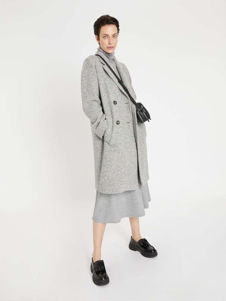 Manteau de tweed mélangé