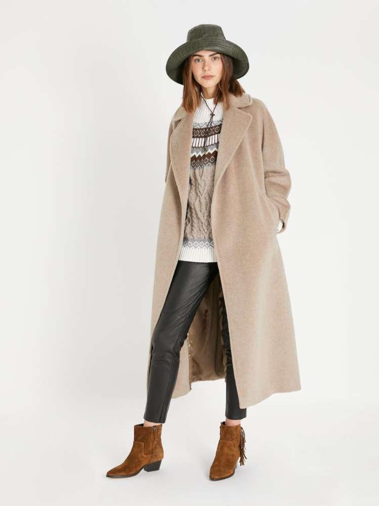 Wool, alpaca and mohair coat