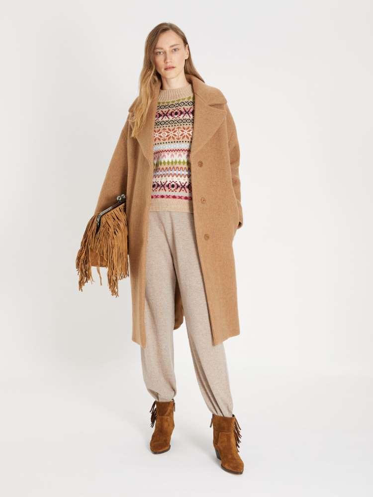 Felted-look wool coat