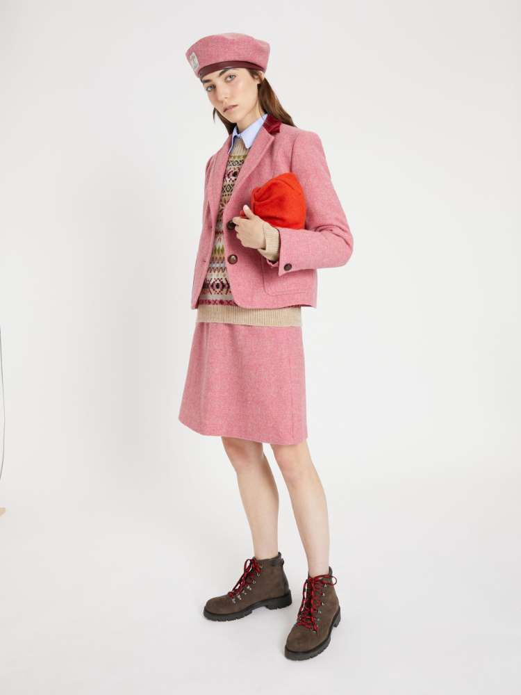 Harris Tweed wool skirt