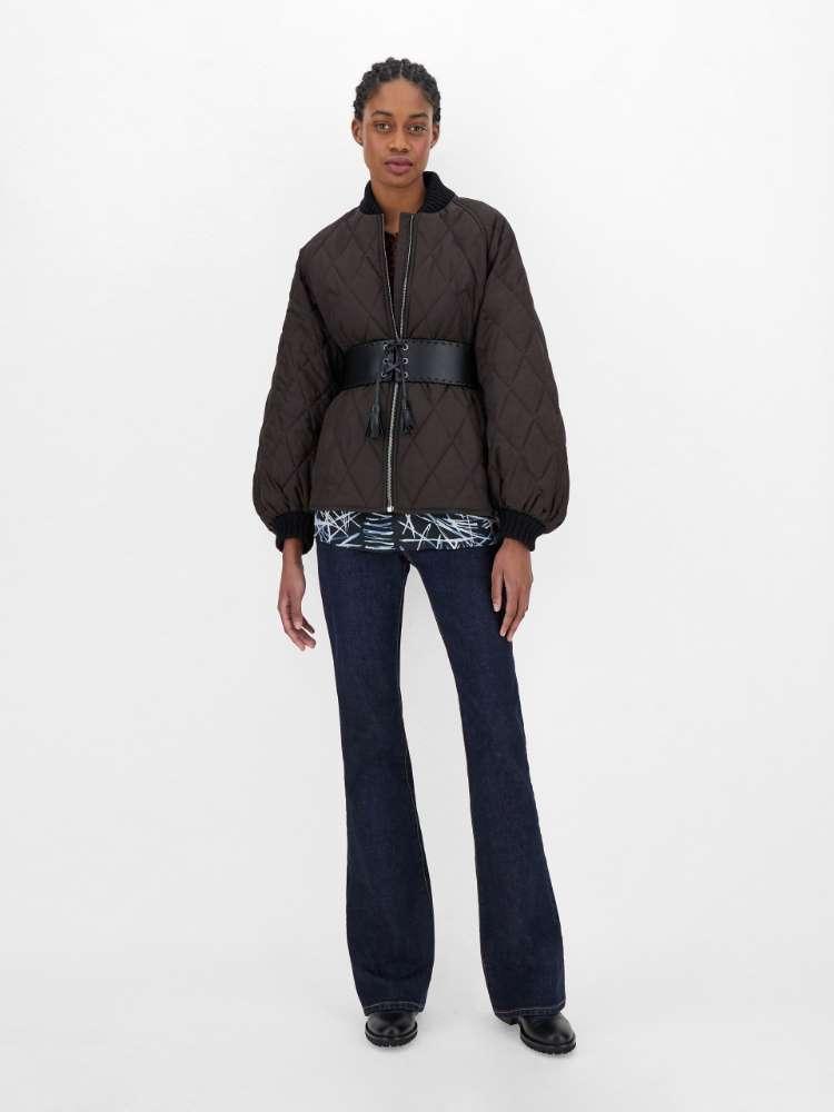 Silk and viscose jacquard blouse