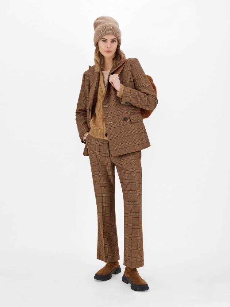 Pantalon en batavia de laine