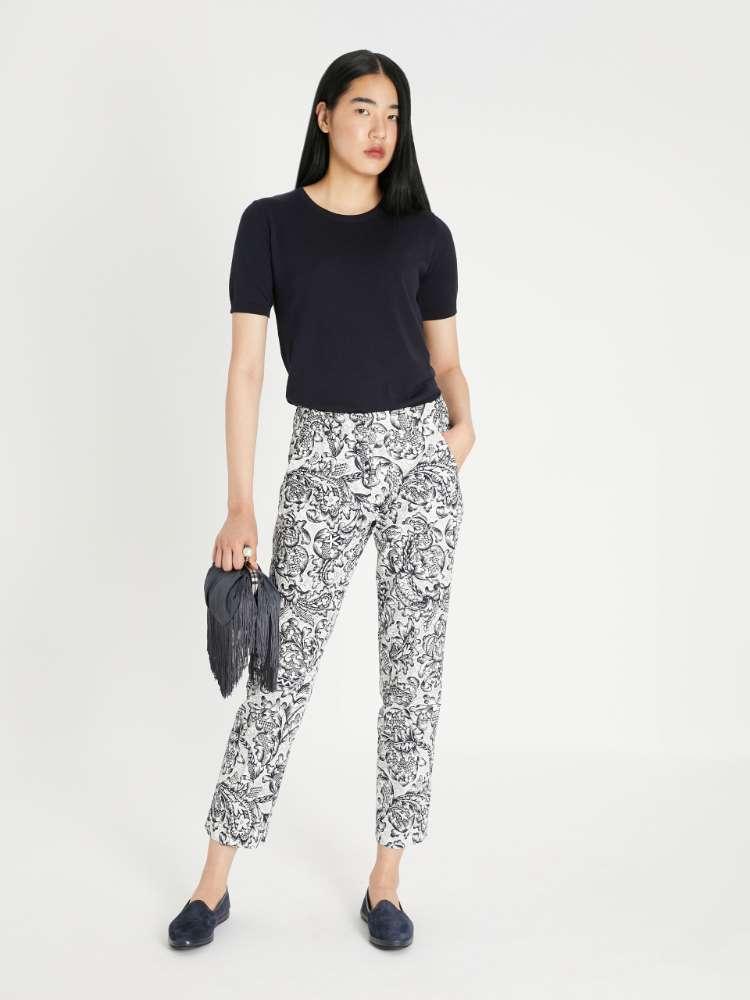 Cotton faille trousers