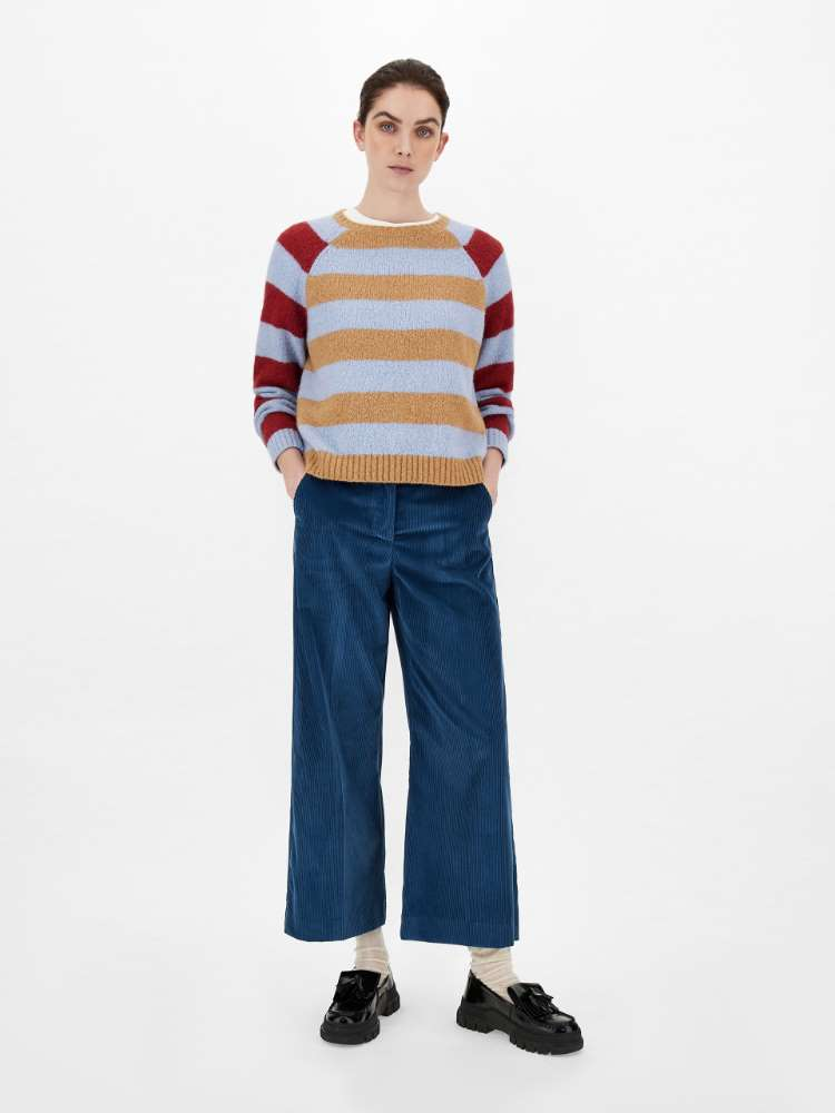 Cotton velvet trousers