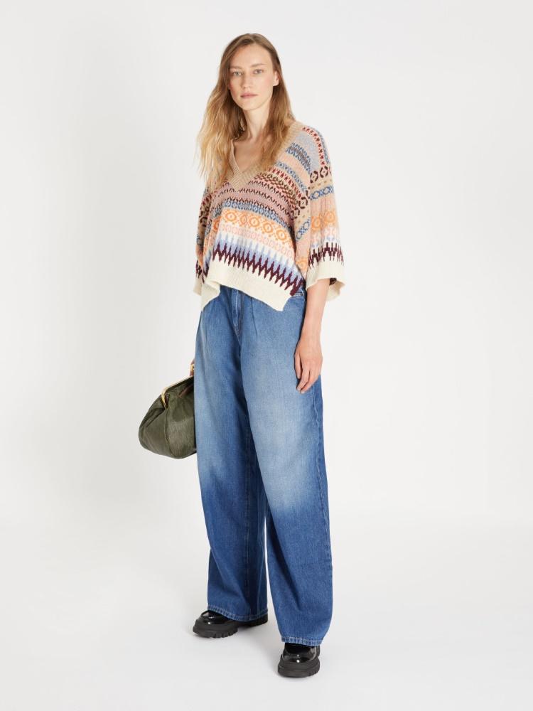Straight-fit cotton denim jeans