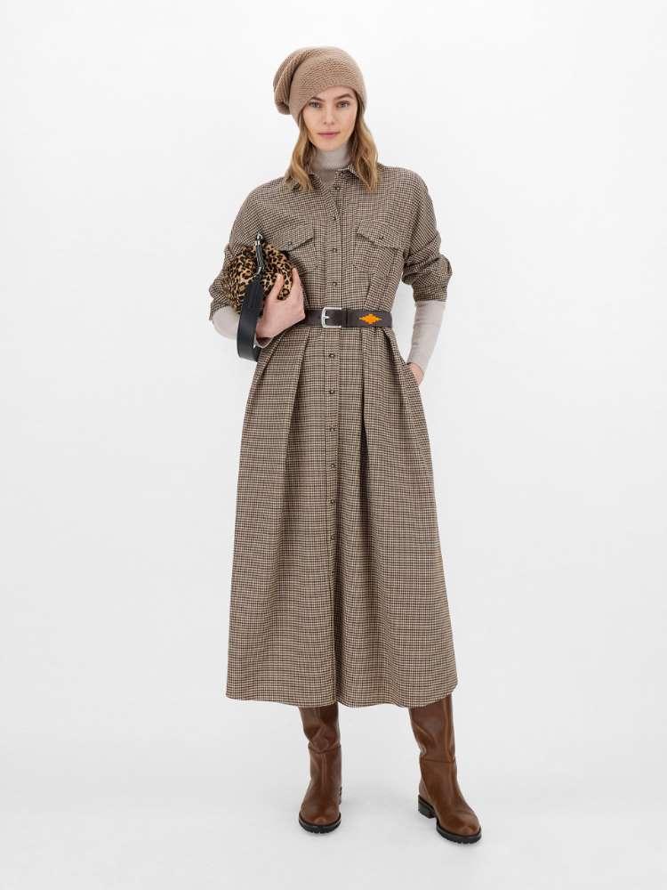 Robe en flanelle de laine