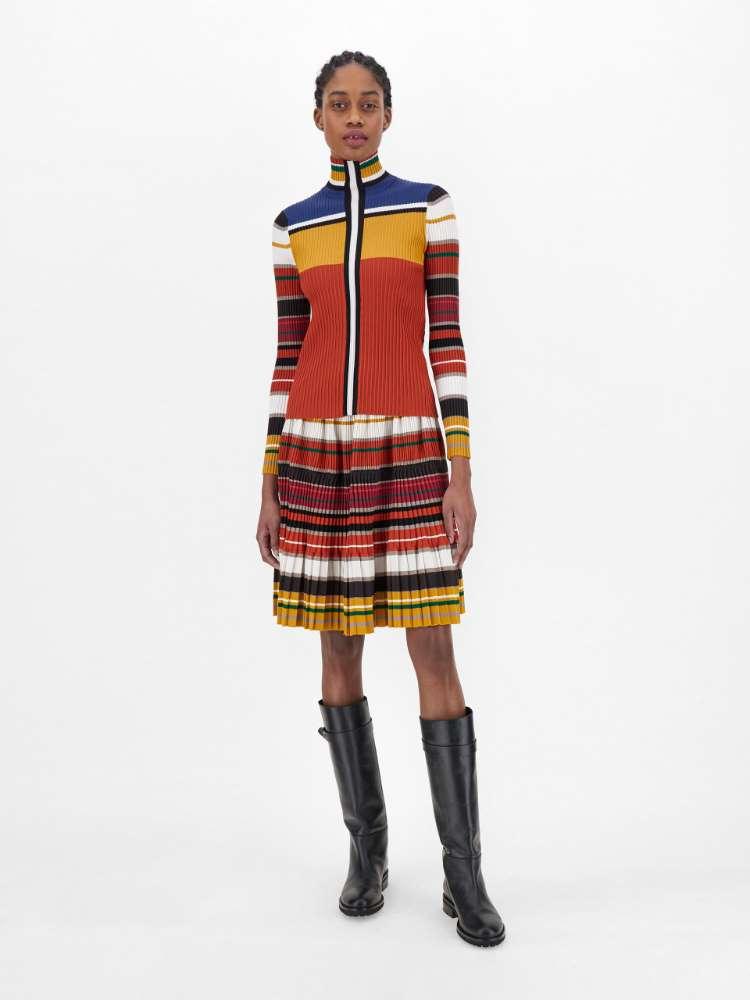Stretch viscose yarn skirt
