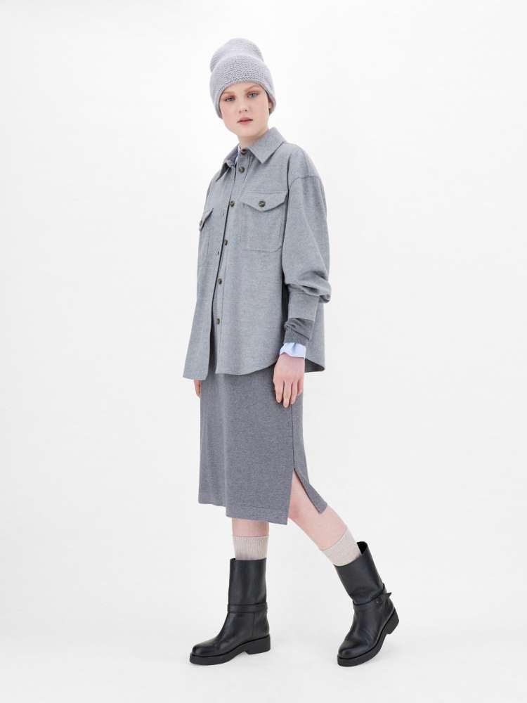 Robe en laine et viscose