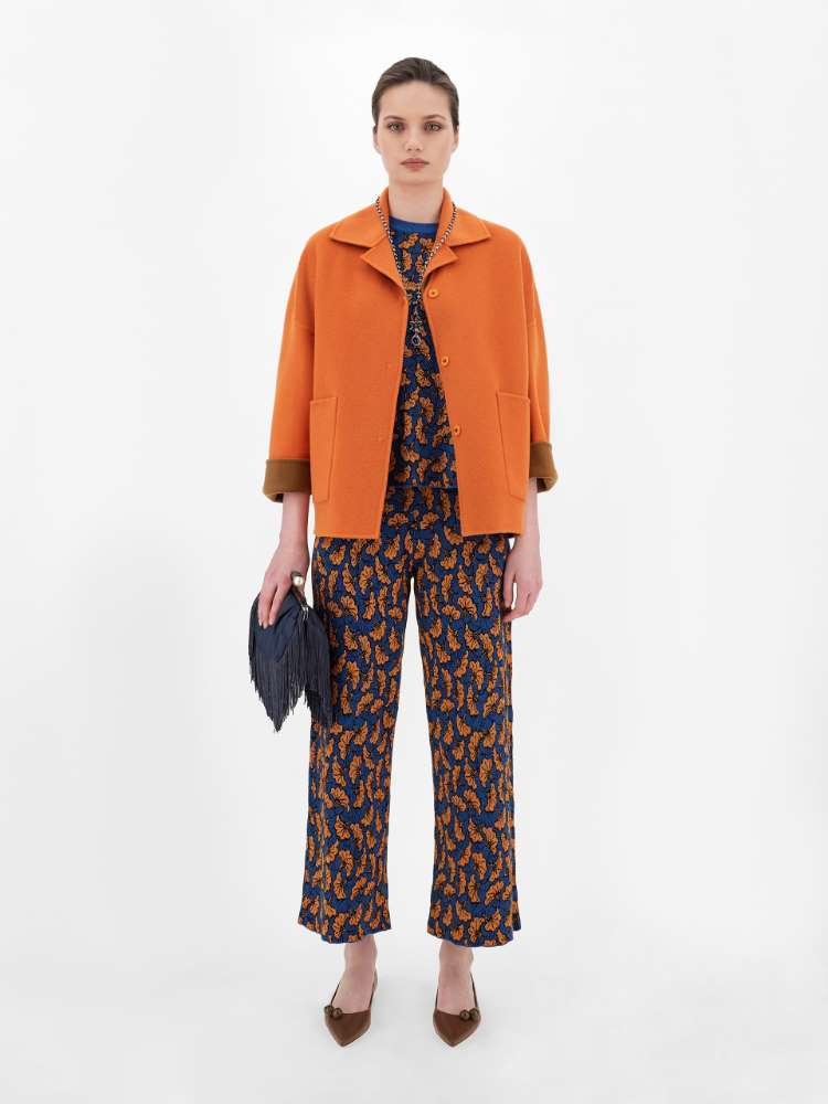 Jacquard yarn trousers