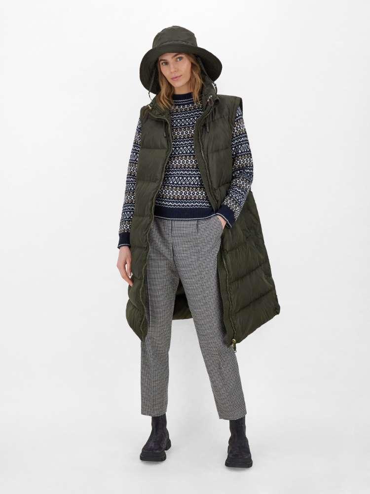 Pull en fils de laine et alpaga