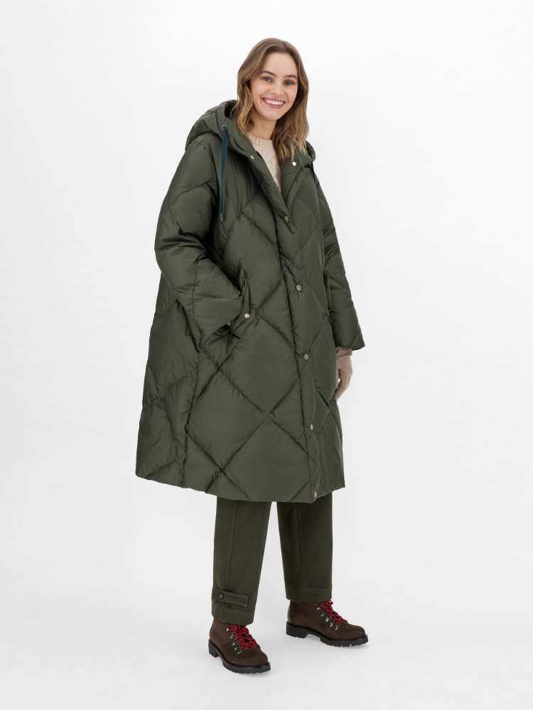 Water-repellent fabric down jacket