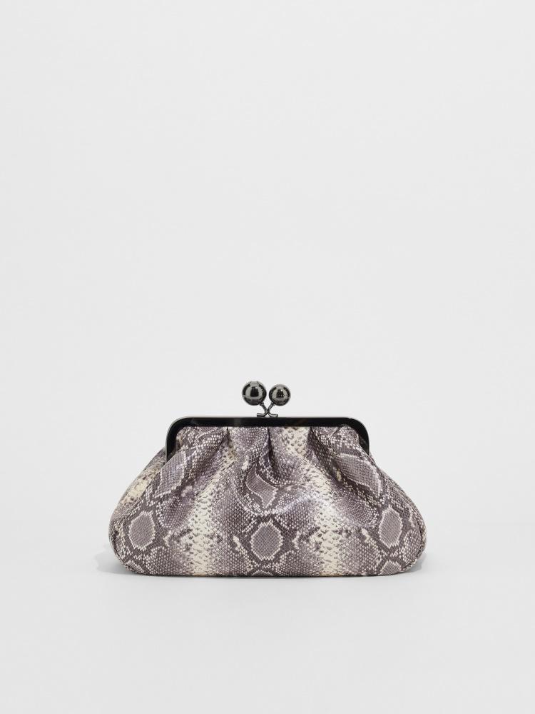 Medium python-print leather Pasticcino Bag