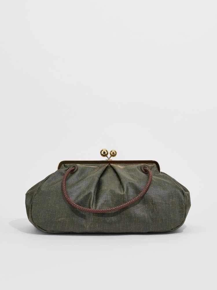 Large waxed slub fabric Pasticcino Bag