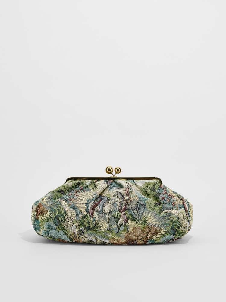 Large jacquard fabric Pasticcino Bag