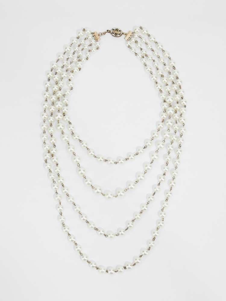 Multi-strand bead necklace