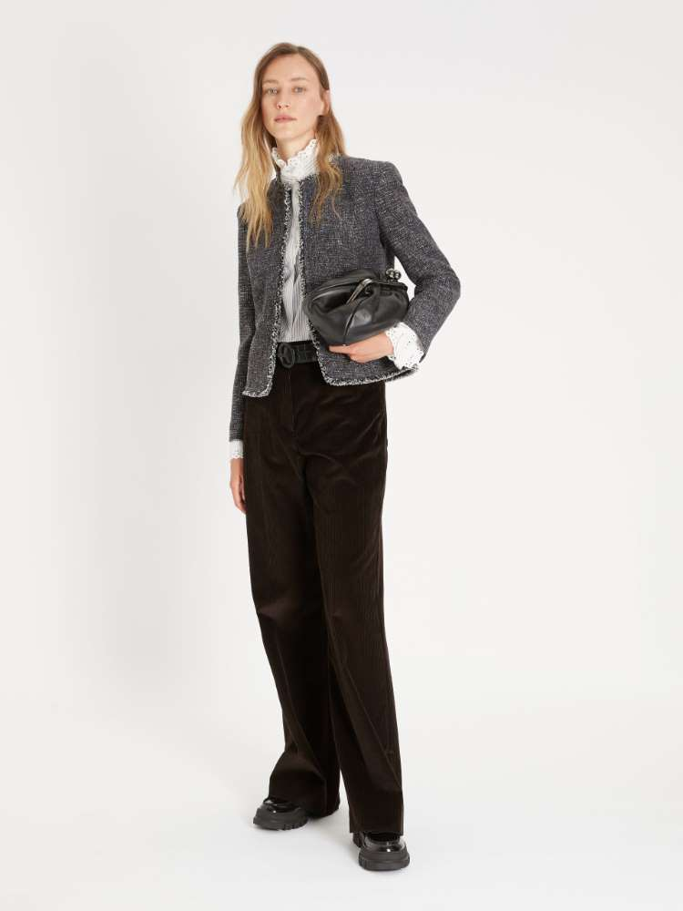 Cotton and wool jersey jacket