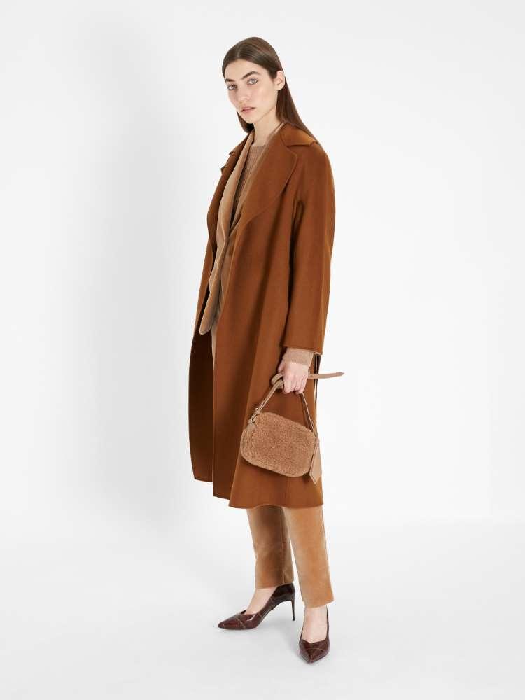 Cappotto in lana, cachemire e seta