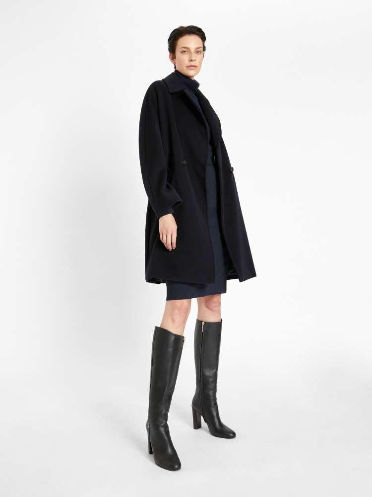 Wool beaver cloth coat