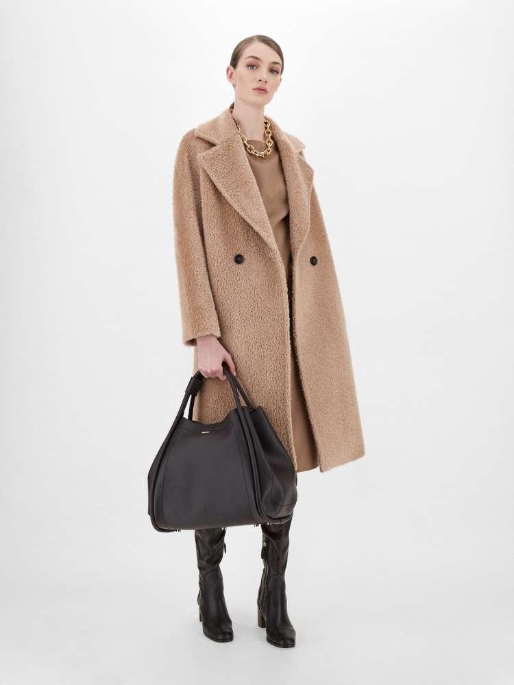 Manteau en cachemire, alpaga et laine