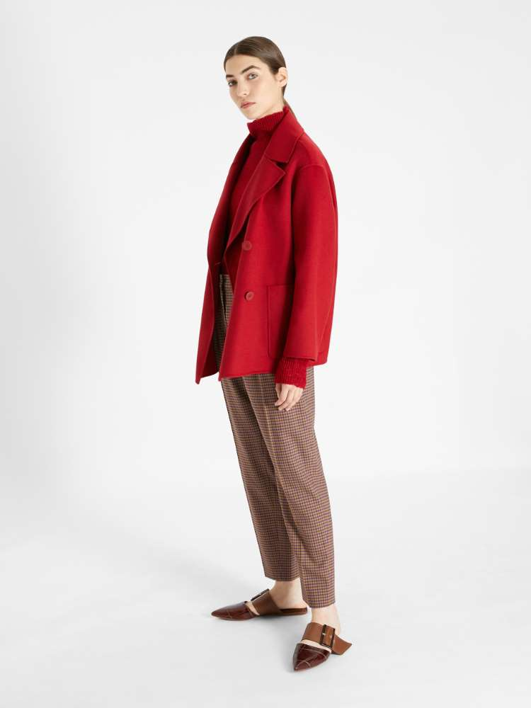 Wool, cashmere and silk pea coat