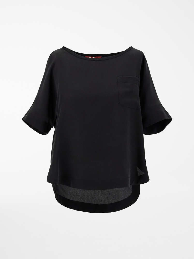 Silk crepe de chine T-shirt