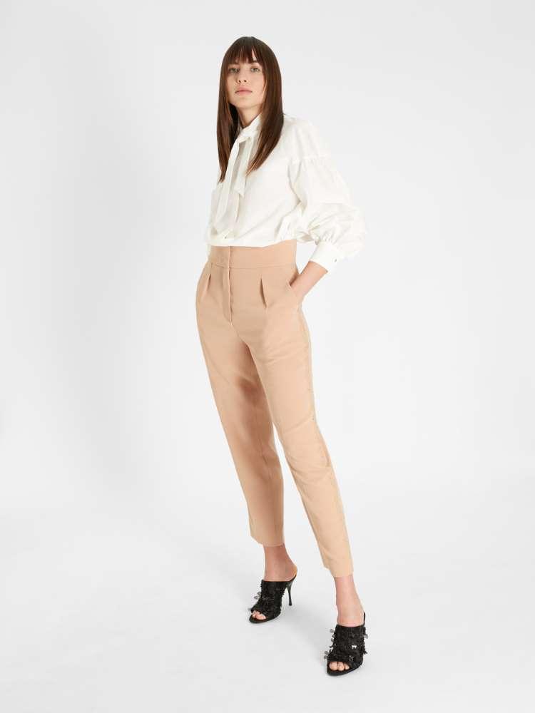 Cotton and silk fabric shirt