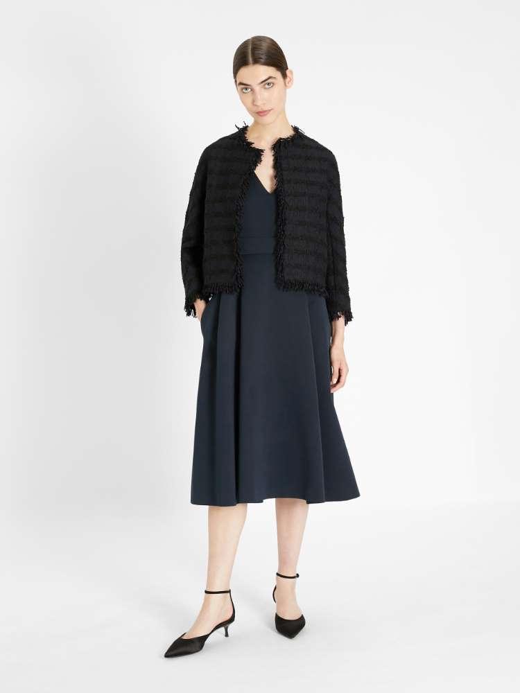 Technical faille fabric dress