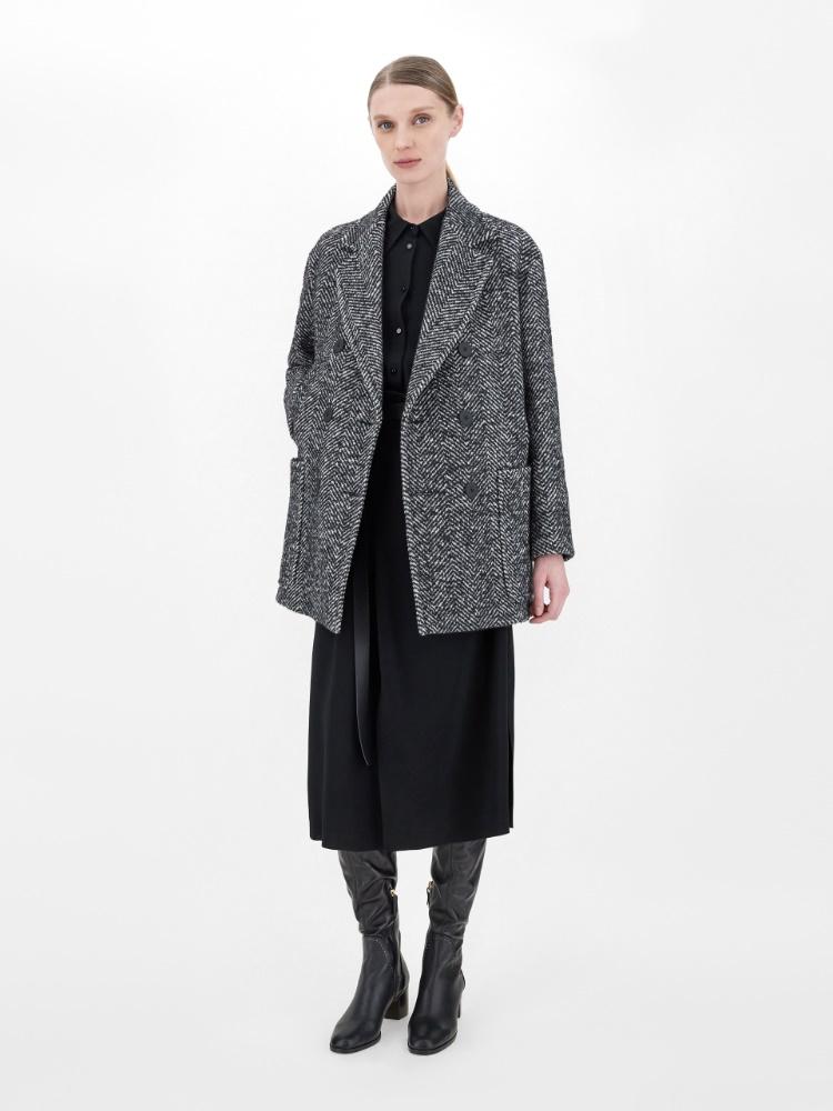 Wool crepe and viscose dress