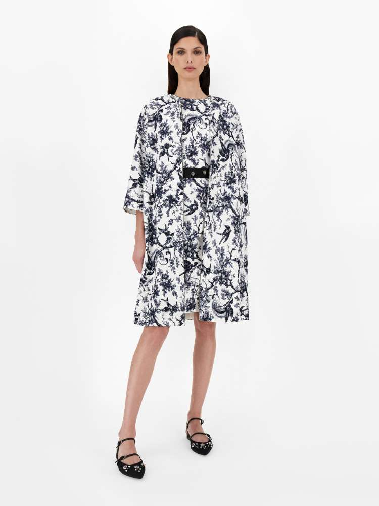 Cotton and viscose faille dress