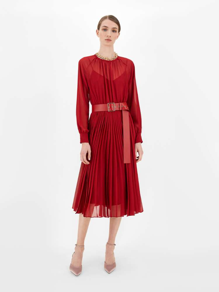 Sable georgette dress