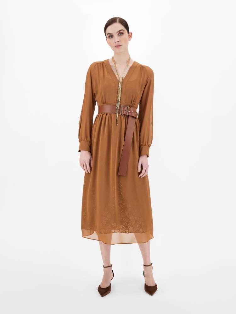 Washed silk georgette dress