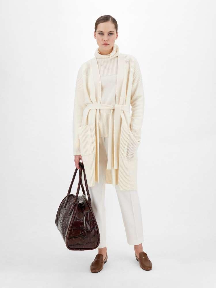 Wool and cashmere yarn coatigan