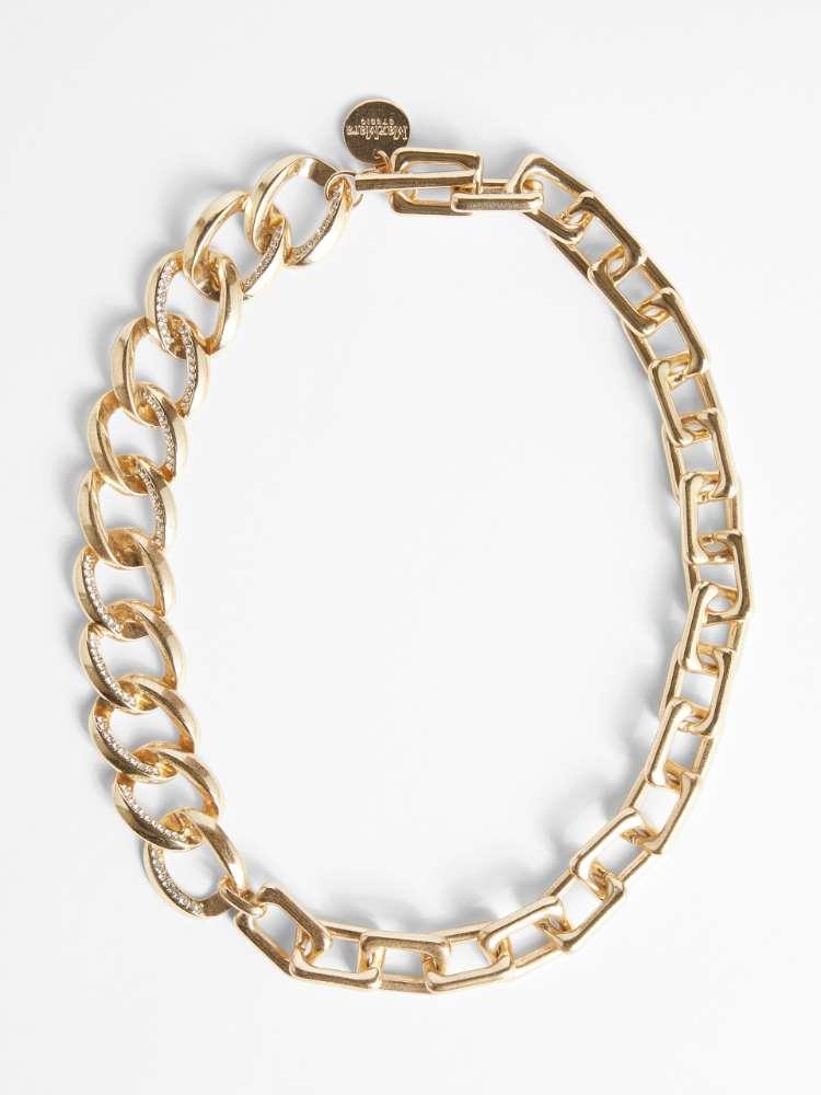 Rhinestone metal necklace
