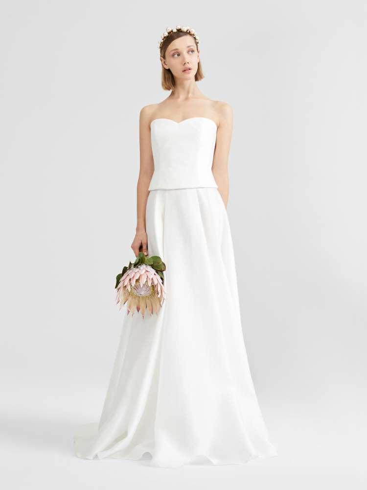 Cotton jacquard skirt