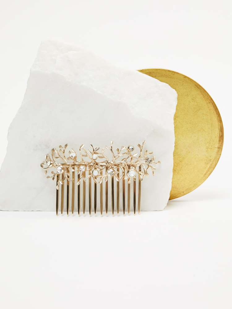 Jewelled combs with crystals