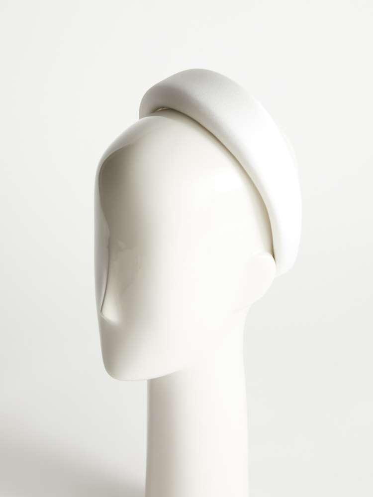 Shiny satin crêpe headband