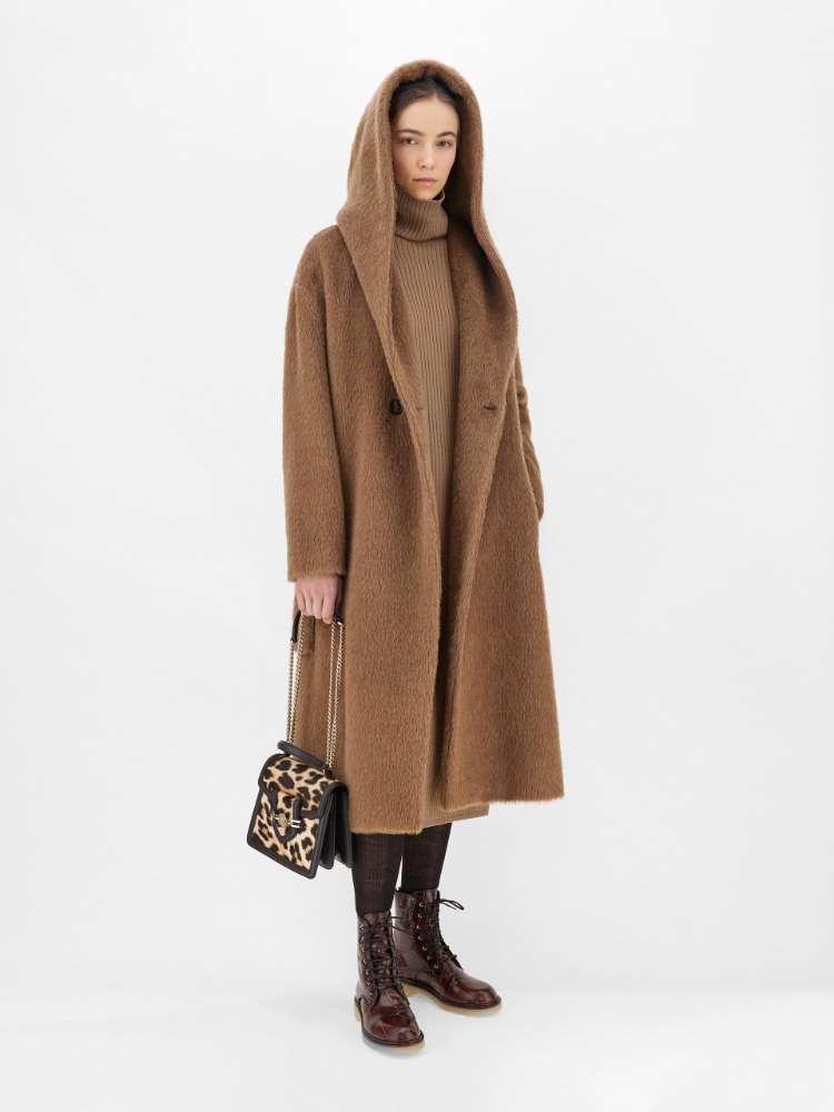 Alpaca, wool and cashmere coat
