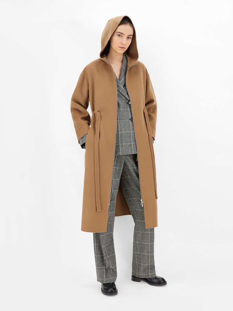 Wool-blend flannel and cotton jacket