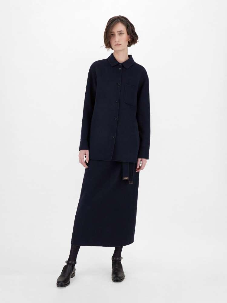 Wool and angora skirt