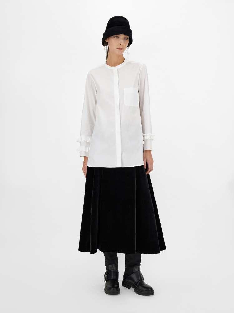Cotton velvet skirt
