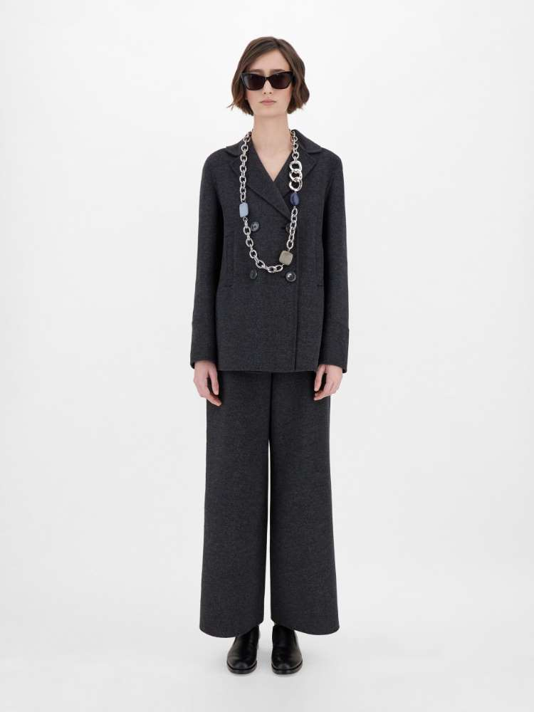Wool and angora trousers