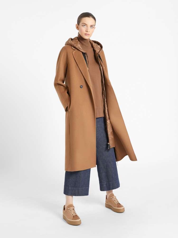 Denim-look cotton trousers