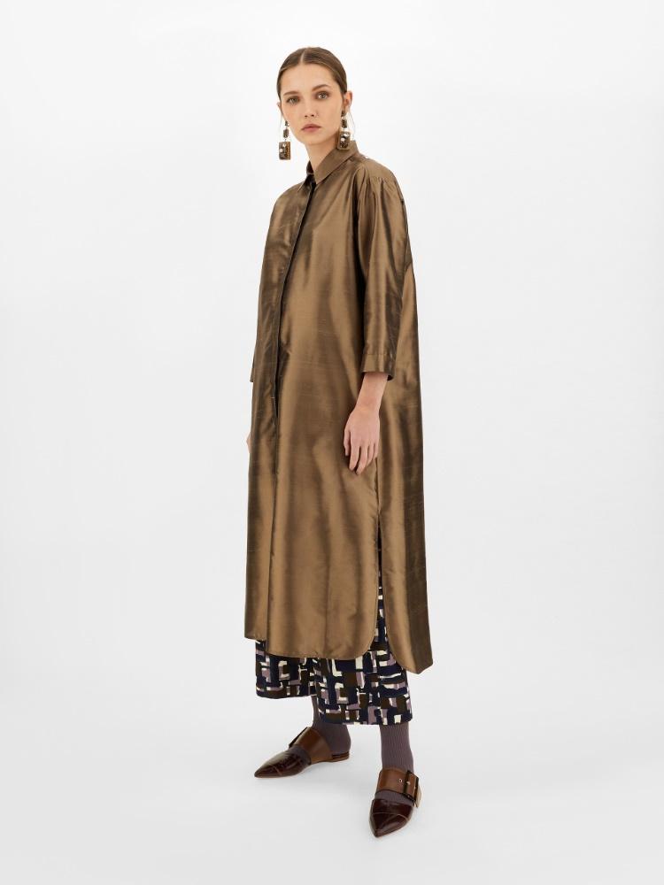 Pantaloni in ottoman di cotone e viscosa