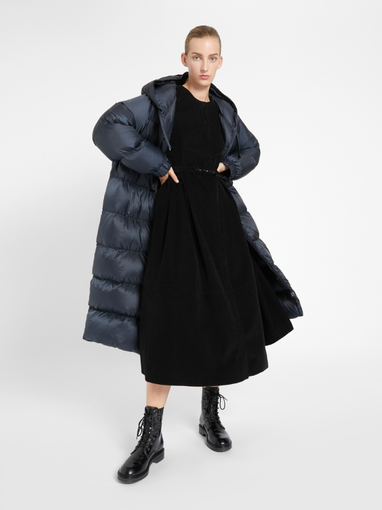 Cotton velvet dress
