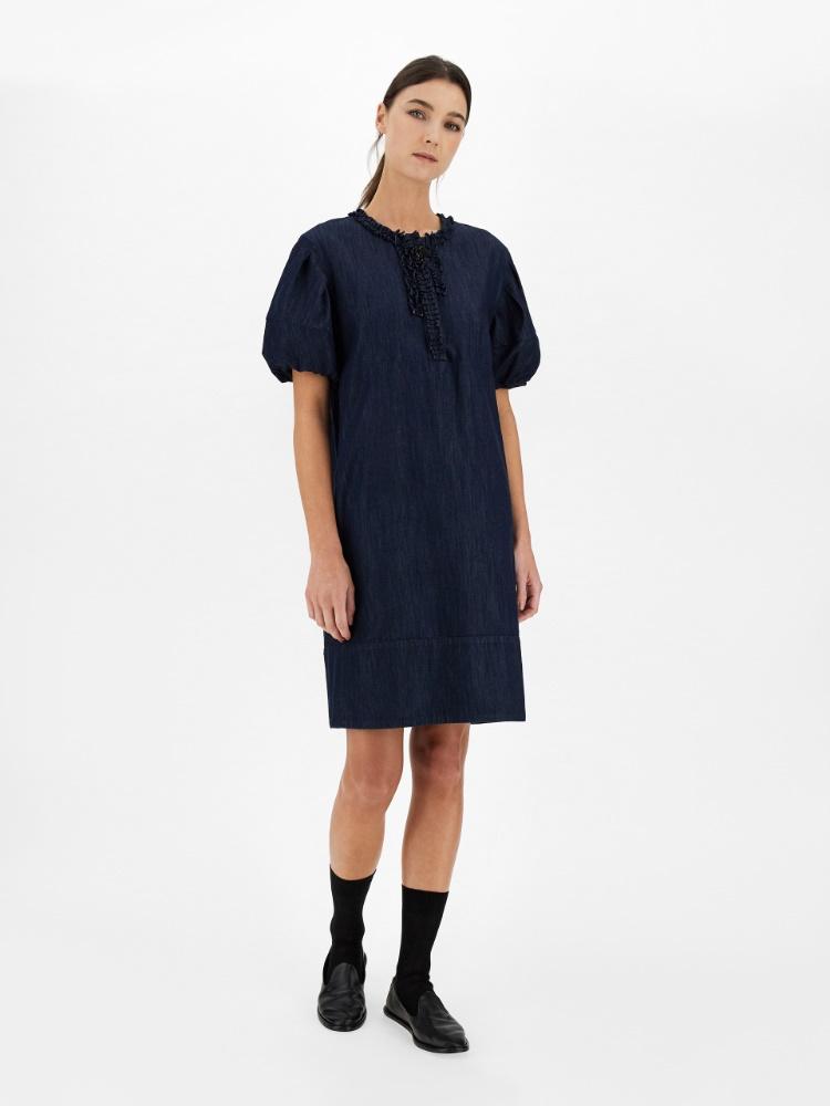 Cotton denim dress