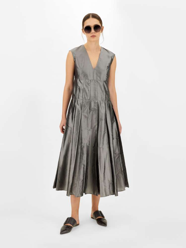 Silk shantung dress